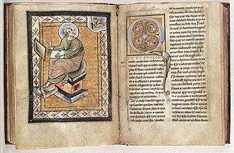 Museum Mayer van den Bergh - Image: 12th century painters Evangeliarum from Saint Amand Abbey WGA15832