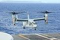 131117-N-XN177-012 PHILIPPINE SEA (Nov. 17, 2013) A U.S. Marine Corps MV-22 Osprey lands on the flight deck of the U.S. Navy's forward-deployed aircraft carrier USS George Washington (CVN 73) to conduct 131117-N-XN177-012.jpg