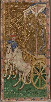 Royal procession, design from the 14th century. 14th Century Medieval Chariot.jpg