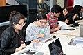 15. Editores y editoras trabajando en la II Editatón de Arte y Feminismo en Lima, 2105.JPG