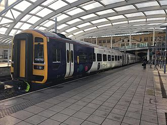 Northern (train operating company) - A Northern Class 158 at Manchester Victoria Station