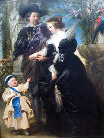 Автопортрет Рубенса с Еленой Фоурмен и их ребёнком. 1638 год, масло по дереву. 204,2 × 159,1 см. Нью-Йорк, Метрополитен-музей