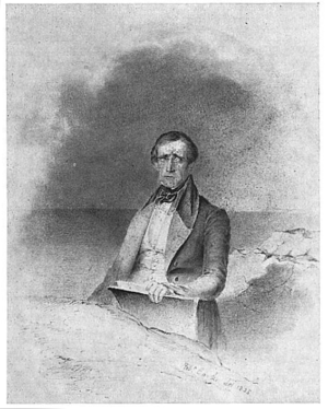 Fitz Henry Lane - Portrait of Lane by Robert Cooke, 1835 (Courtesy of American Antiquarian Society)
