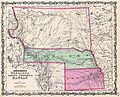 1862 Johnson Map of Kansas, Nebraska and Dakota - Geographicus - NEKADK-johnson-1862.jpg