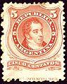 1868 5C Argentina Rivadavia unused Mi20I.jpg