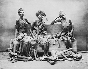 Poverty in India - Image: 1876 1877 1878 1879 Famine Genocide in India Madras under British colonial rule 2