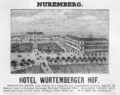 1885 Hotel Wurtemberger Nuremberg ad Harpers Handbook for Travellers in Europe.png