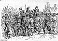 1888 Riots in Romania - Peasants surrounding officers sent to restore order.jpg