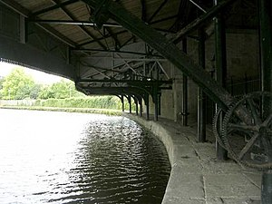 Leeds and Liverpool Canal - 1890s warehouse - Weavers' Triangle - Leeds and Liverpool Canal