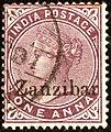 1895ca 1a Zanzibar Mi2a lilabraun SG4 plum.jpg