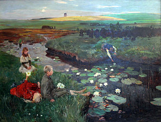 Art of the Third Reich - Water-lilies by the Nazi painter Ludwig Dettmann (listed in the God-gifted list)