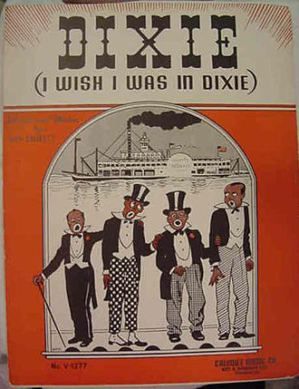 Dixie (song) - Sheet music cover, c. 1900.