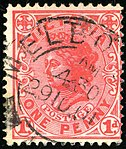 1901 1d Victoria Postage DC Yv128 SG385.jpg