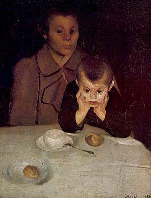 Josip Račić - Majka i dijete (Mother and Child) by Josip Račić, (1908) oil on canvas (90,2x68,4 cm)
