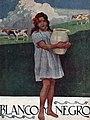 1920-09-19, Blanco y Negro, Niña con cántaro de leche y vacas, Huertas.jpg