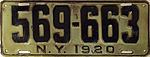1920 New York license plate.JPG