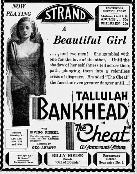 [Image: 472px-1931_-_Strand_Theater_Ad_-_12_Dec_...own_PA.jpg]