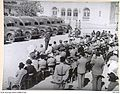 1940-09. JERUSALEM - COL. COHEN PRESENTS LORD SOMERS WITH AMBULANCES. (NEGATIVE BY PARER).JPG