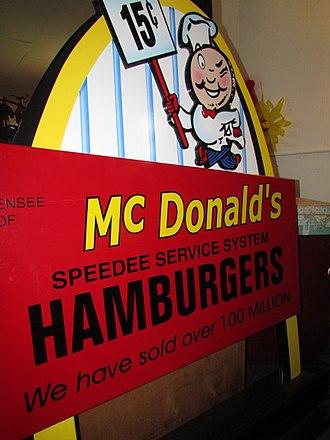 History of McDonald's - McDonald's Sign circa 1955