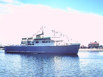 MV Troubridge - Maiden voyage of MV Troubridge. Port Adelaide South Australia.