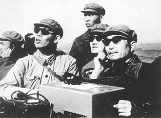 Zhang Aiping - Zhang Aiping reporting to Zhou Enlai on October 16, 1964, following China's first nuclear weapons test
