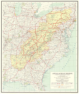 Appalachian Development Highway System - 1966 map