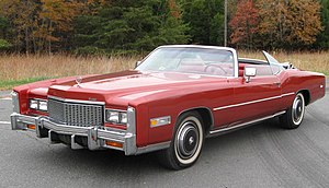 Personal luxury car - A later version of the personal luxury car - 1976 Cadillac Eldorado convertible