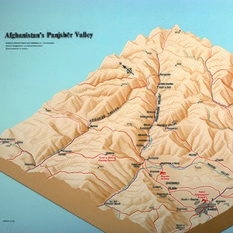 Panjshir offensives - Image: 1985 3D Afghanistan Panjsher Valley (30849053106)