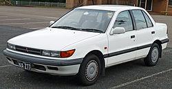 1988–1990 Mitsubishi Lancer SE sedan (Australia)