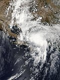 Nineteen-E making landfall in Baja California Sur on September 19