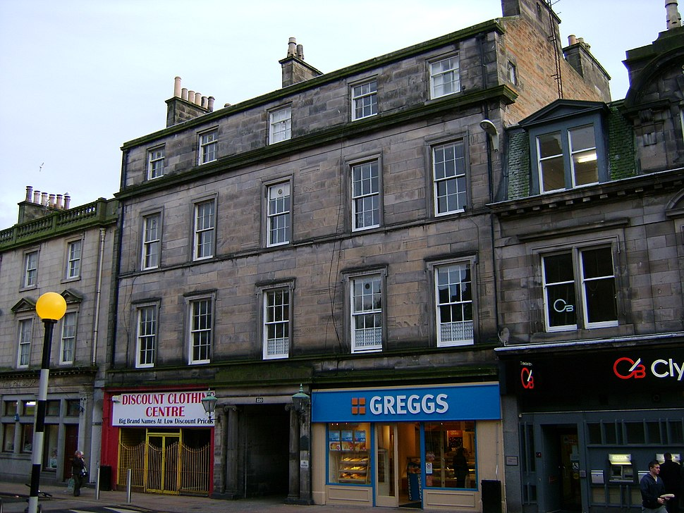 19th-century building at location where Adam Smith lived, 1767-1776