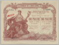 1 Piastre - Banque de l'Indo-Chine, Saigon Branch (1909-1921, Overstamp type 3) 01.png
