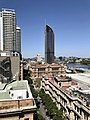 1 William Street building and George Street seen from 217 George Street, Brisbane.jpg