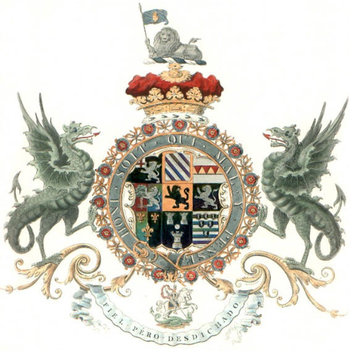 The arms of John Churchill, 1st Duke of Marlbo...