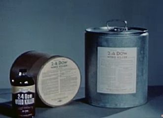 2,4-Dichlorophenoxyacetic acid - Containers of 2-4 D herbicide, ca. 1947