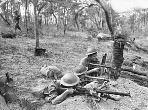 2/6th Battalion (Australia) - Three infantrymen of the Australian 2/6th Battalion training in the Watsonville area of North Queensland, April 1944