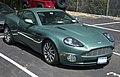 2002 Aston Martin V12 Vanquish, AM RAcing Green, front right.jpg
