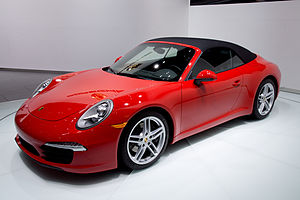 2012 NAIAS Red Porsche 991 convertible (world premiere).jpg