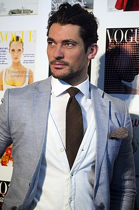 David Gandy lors du festival de Vogue en avril 2013.