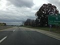 2014-11-01 13 54 44 Sign for Exit 242 (Interstate 83) along the westbound Pennsylvania Turnpike (Interstate 76) in Fairview Township, Pennsylvania.JPG