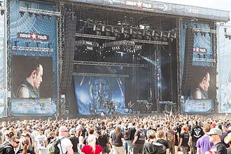Trivium (band) - Trivium performing in Nova Rock Festival in 2014.