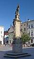 2014 Frydek-Mistek, Náměstí Svobody, Kolumna z figurą Matki Boskiej 01.jpg