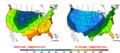 2016-04-01 Color Max-min Temperature Map NOAA.png