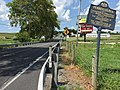 2016-08-20 14 18 28 View north at the north end of Maryland State Route 97 (Littlestown Pike) and the south end of Pennsylvania State Route 97 (Baltimore Pike) crossing the Mason-Dixon Line from Carroll County, Maryland to Adams County, Pennsylvania.jpg