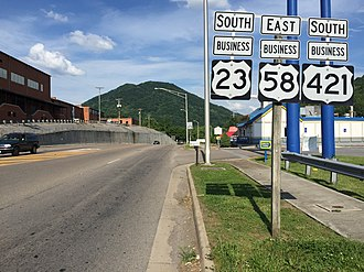 Special routes of U.S. Route 23 - US 23 Bus/US 58 Bus/US 421 Bus in Gate City