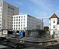 2017-11-04, Umbau des Verkehrsknotens am Siegesdenkmal in Freiburg, Neubau des Sockels für das Siegesdenkmal, 1.jpg