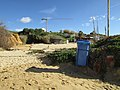 2018-01-07 Blue Litter bin, Praia Maria Luisa, Albufeira.JPG