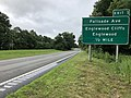 2018-07-22 09 49 59 View south along New Jersey State Route 445 (Palisades Interstate Parkway) just north of Exit 1 (Palisade Avenue, Englewood Cliffs, Englewood) in Englewood Cliffs, Bergen County, New Jersey.jpg