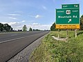 2019-05-17 18 35 21 View east along Interstate 68 and U.S. Route 40 (National Freeway) at Exit 74 (U.S. Route 40 Scenic EAST, Mountain Road) in Forest Park, Washington County, Maryland.jpg
