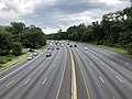 2019-07-11 12 35 31 View east along Interstate 495 (Capital Beltway) from the overpass for Maryland State Route 193 (University Boulevard) along the edge of Silver Spring and Four Corners in Montgomery County, Maryland.jpg